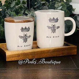💗🐝RAE DUNN {QUEEN} Small Container Pour Set!